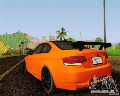 BMW M3 GT-S para GTA San Andreas vista traseira