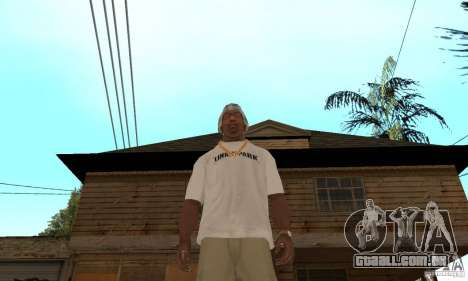 LP shirt white para GTA San Andreas