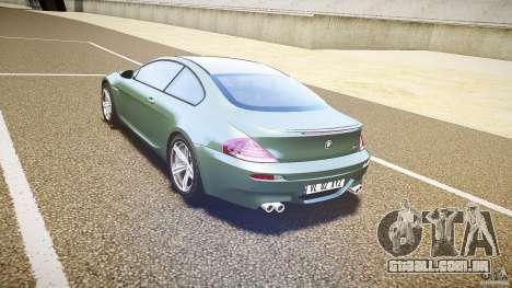 BMW M6 v1.0 para GTA 4 vista direita