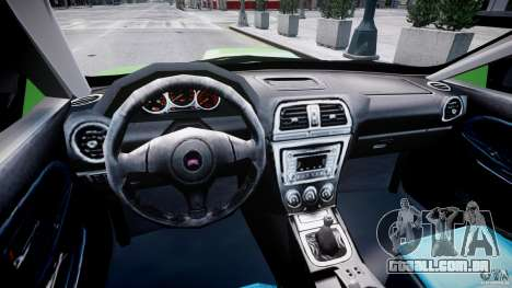 Subaru Impreza STI Wide Body para GTA 4 vista direita