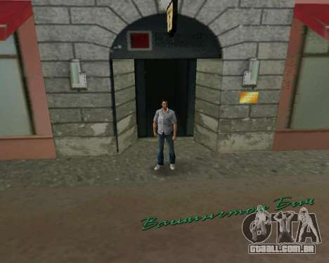 Camisa cinza para GTA Vice City por diante tela