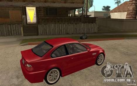 BMW M3 CSL para GTA San Andreas vista direita