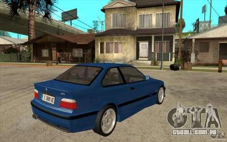 BMW M3 E36 1997 para GTA San Andreas vista direita