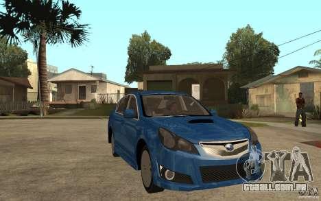 Subaru Legacy B4 2.5GT 2010 para GTA San Andreas vista traseira