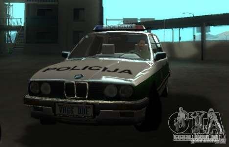 BMW E30 Sedan Police para GTA San Andreas