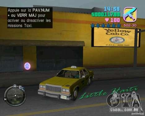 Ford Crown Victoria LTD 1985 Taxi para GTA Vice City vista lateral