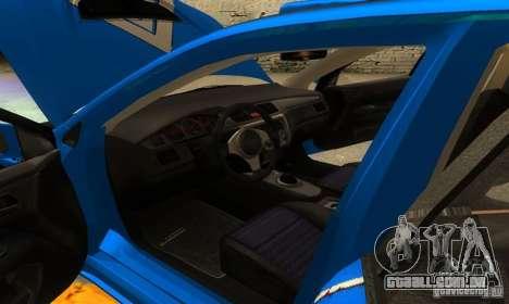 Mitsubishi Lancer Evo 8 Tunable para GTA San Andreas vista inferior