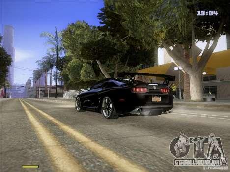 Toyota Supra v2 (MyGame Drift Team) para GTA San Andreas traseira esquerda vista