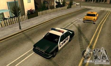 Os picos na estrada para GTA San Andreas por diante tela