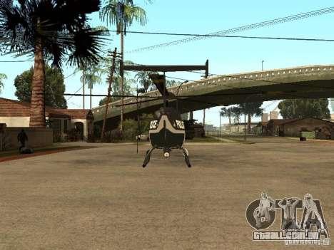 Police Maverick para GTA San Andreas traseira esquerda vista