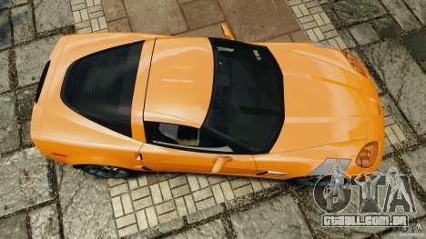 Chevrolet Corvette C6 Grand Sport 2010 para GTA 4 vista direita