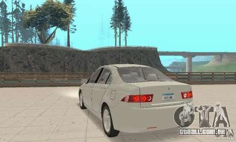 Honda Accord Comfort 2003 para GTA San Andreas esquerda vista
