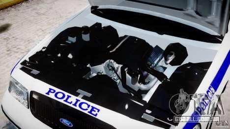 Ford Crown Victoria NYPD para GTA 4 vista interior