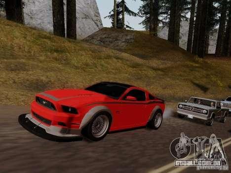 Ford Mustang RTR Spec 3 para GTA San Andreas vista direita