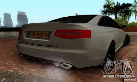 Audi RS6 2009 para GTA San Andreas esquerda vista