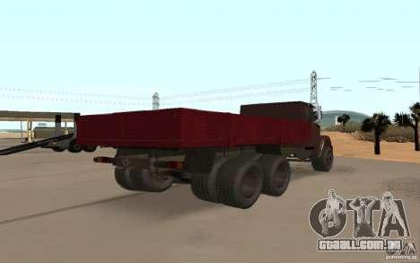 ZIL 6309 para GTA San Andreas traseira esquerda vista