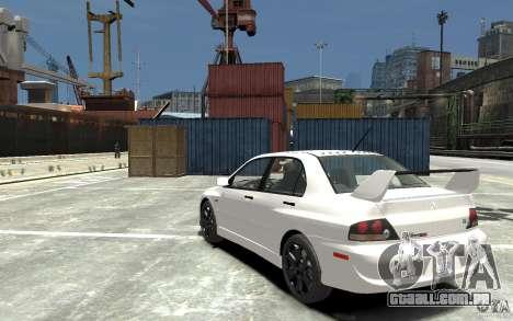 Mitsubishi Lancer Evolution IX 2010 para GTA 4 traseira esquerda vista