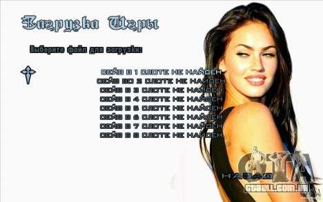 Megan Fox de telas de inicialização para GTA San Andreas quinto tela