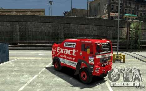 MAN TGA Rally Truck para GTA 4 vista de volta