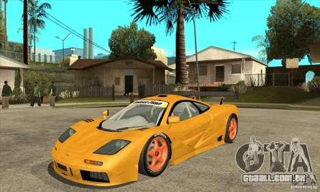 McLAREN F1 GTR GULF 1996 para GTA San Andreas