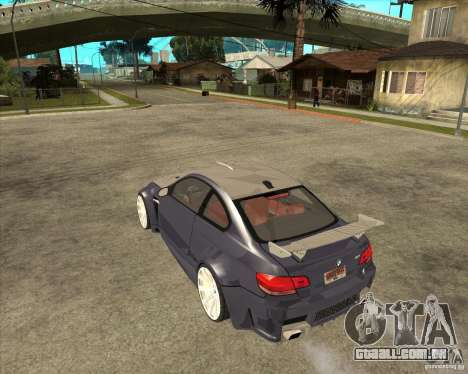 BMW M3 E92 TUNED para GTA San Andreas esquerda vista