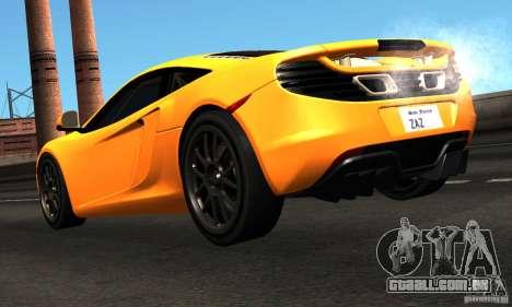 McLaren MP4-12C TT Black Revel para GTA San Andreas traseira esquerda vista