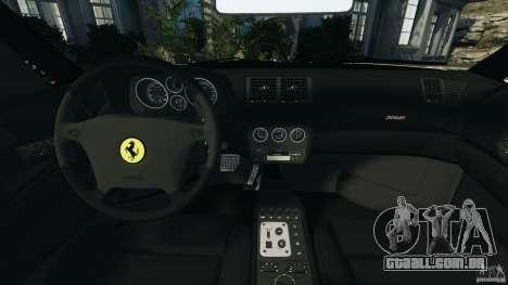 Ferrari F355 F1 Berlinetta para GTA 4 vista de volta