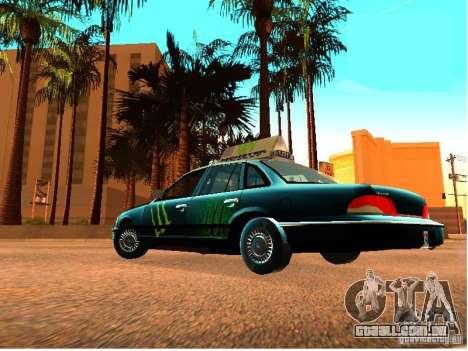 Ford Crown Victoria Taxi para GTA San Andreas vista traseira