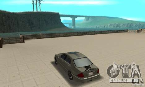 Mercedes Benz AMG S65 DUB para GTA San Andreas traseira esquerda vista