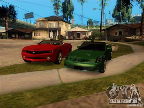 Cadillac XLR para GTA San Andreas vista inferior