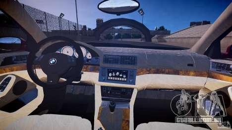 BMW M5 E39 Hamann [Beta] para GTA 4 vista de volta