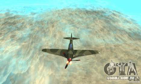 Yak-9, durante a II Guerra Mundial para GTA San Andreas vista superior