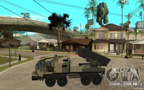 Missile Launcher Truck para GTA San Andreas esquerda vista