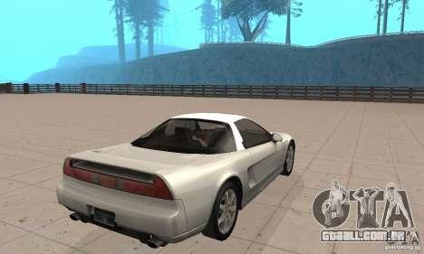 Acura NSX 1991 para GTA San Andreas esquerda vista