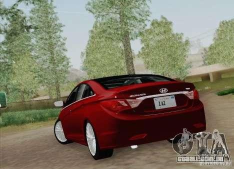 Hyundai Sonata 2012 para GTA San Andreas vista traseira