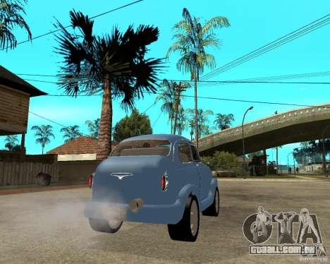 HotRod de 965 Zaporozhets ZAZ para GTA San Andreas traseira esquerda vista