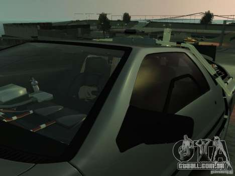 DeLorean BTTF 2 para GTA 4 vista superior