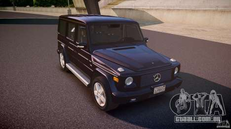 Mercedes Benz G500 (W463) 2008 para GTA 4 vista interior