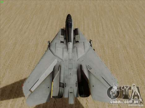 F-14 Tomcat Warwolf para GTA San Andreas vista traseira
