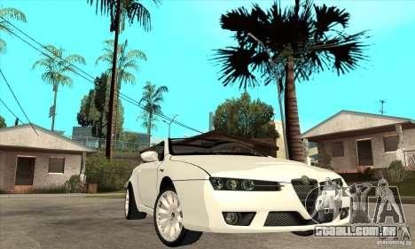 Alfa Romeo Brera para GTA San Andreas vista traseira