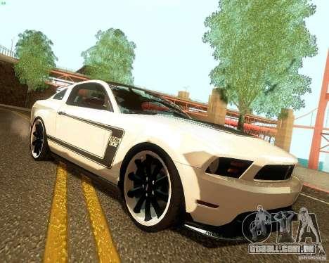 Ford Mustang Boss 302 2011 para GTA San Andreas vista direita