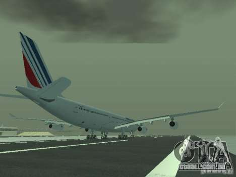 Airbus A340-300 Air France para GTA San Andreas vista direita