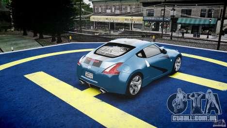 Nissan 370Z Coupe 2010 para GTA 4 interior