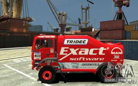 MAN TGA Rally Truck para GTA 4 esquerda vista