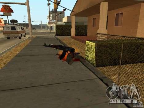 Armas nacional-versão 1.5 para GTA San Andreas nono tela