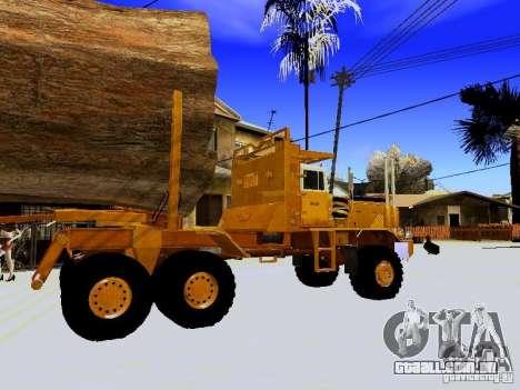 Hayes EQ 142 para GTA San Andreas vista traseira