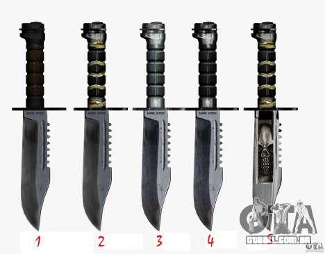 A faca de n º 5 do perseguidor para GTA San Andreas terceira tela