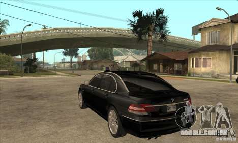 BMW 760Li (e66) SE para GTA San Andreas traseira esquerda vista