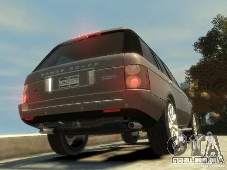 Range Rover Supercharged 2008 para GTA 4 traseira esquerda vista