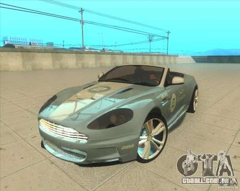 Aston Martin DBS Volante 2009 para GTA San Andreas vista traseira